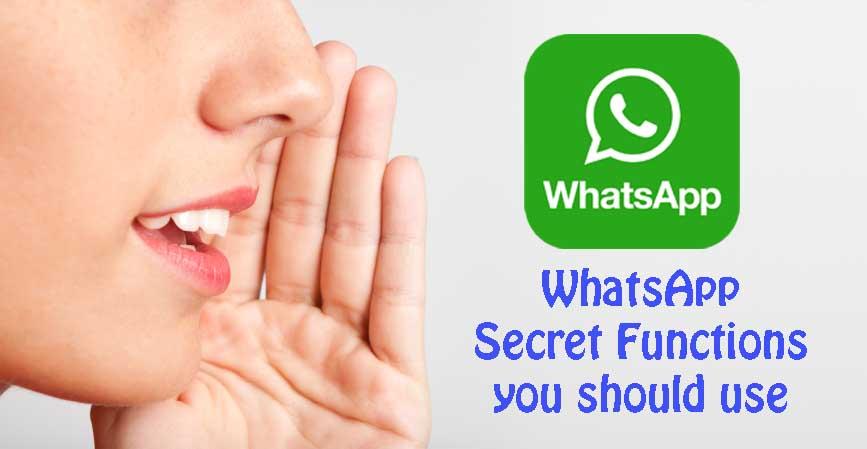 whatsapp secret functions