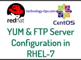 YUM and FTP Server Configuration
