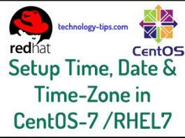 rhel 7 time date setup