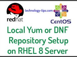 Local YUM or DNF Server